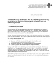 Zusammenfassung Des Berichts über Die Gefährdungsabschätzung Zu