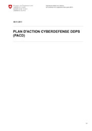 Plan d'Action Cyberdéfense du DDPS PACD